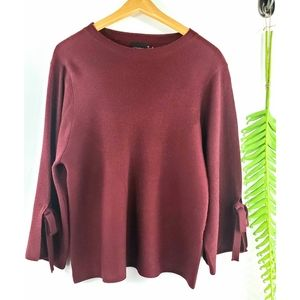 Cliche bell sleeve maroon sweater M